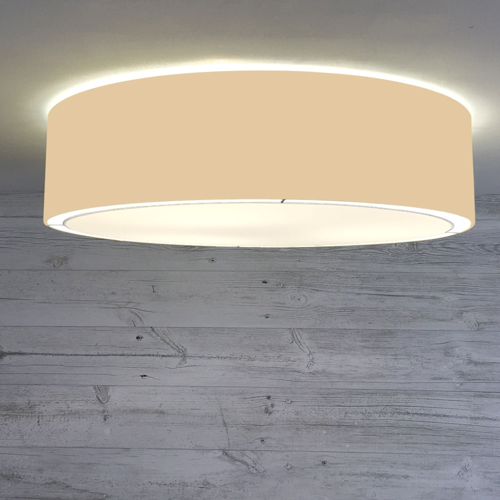 Flush Drum Shade Toast