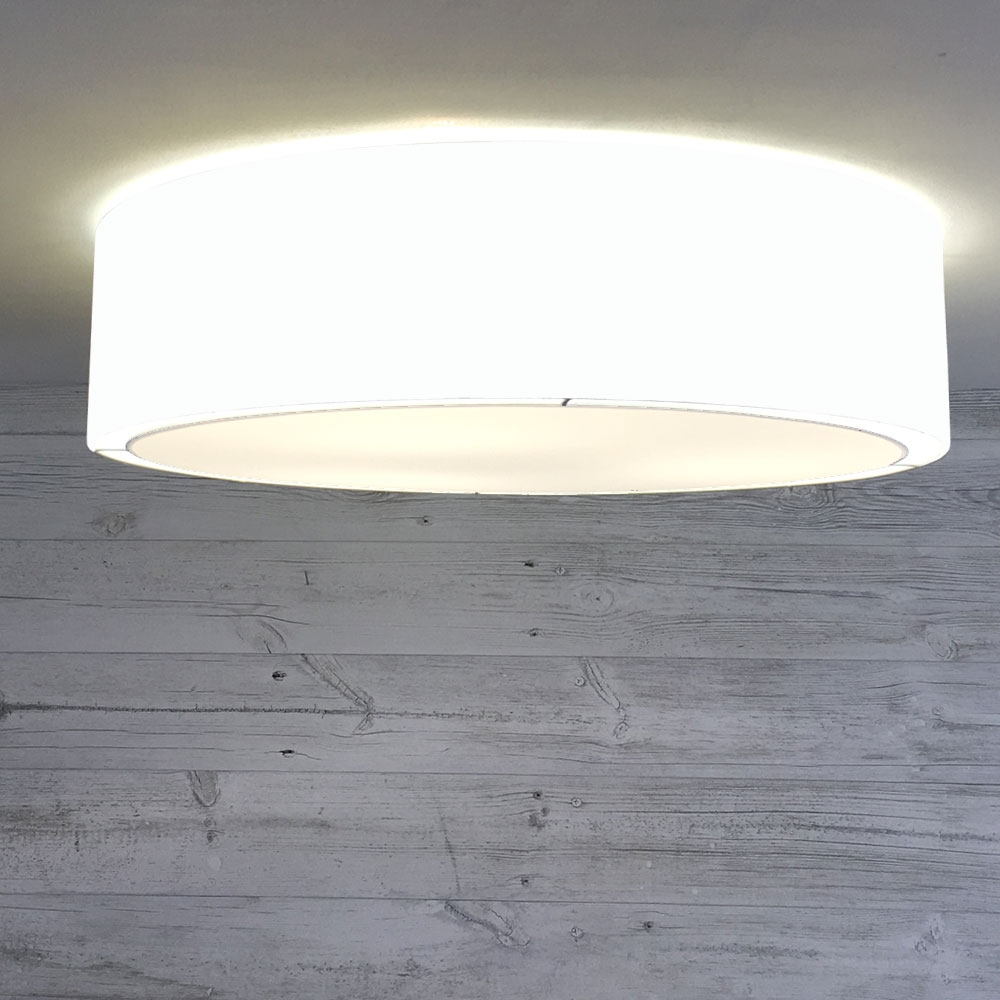 Flush Drum Shade White
