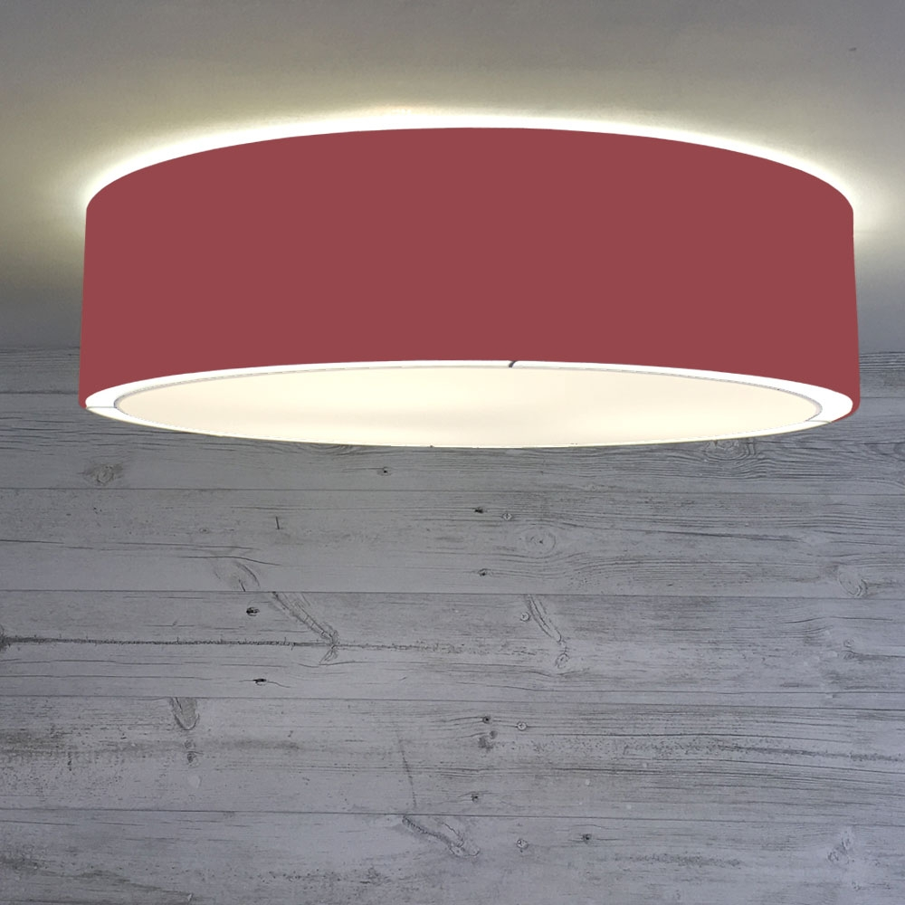 Flush Drum Shade Wine