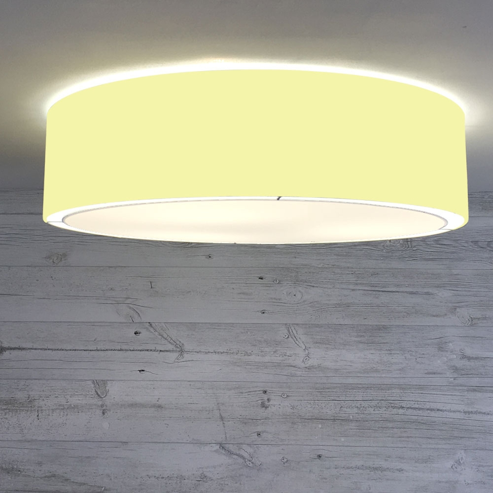 Flush Drum Shade Yellow