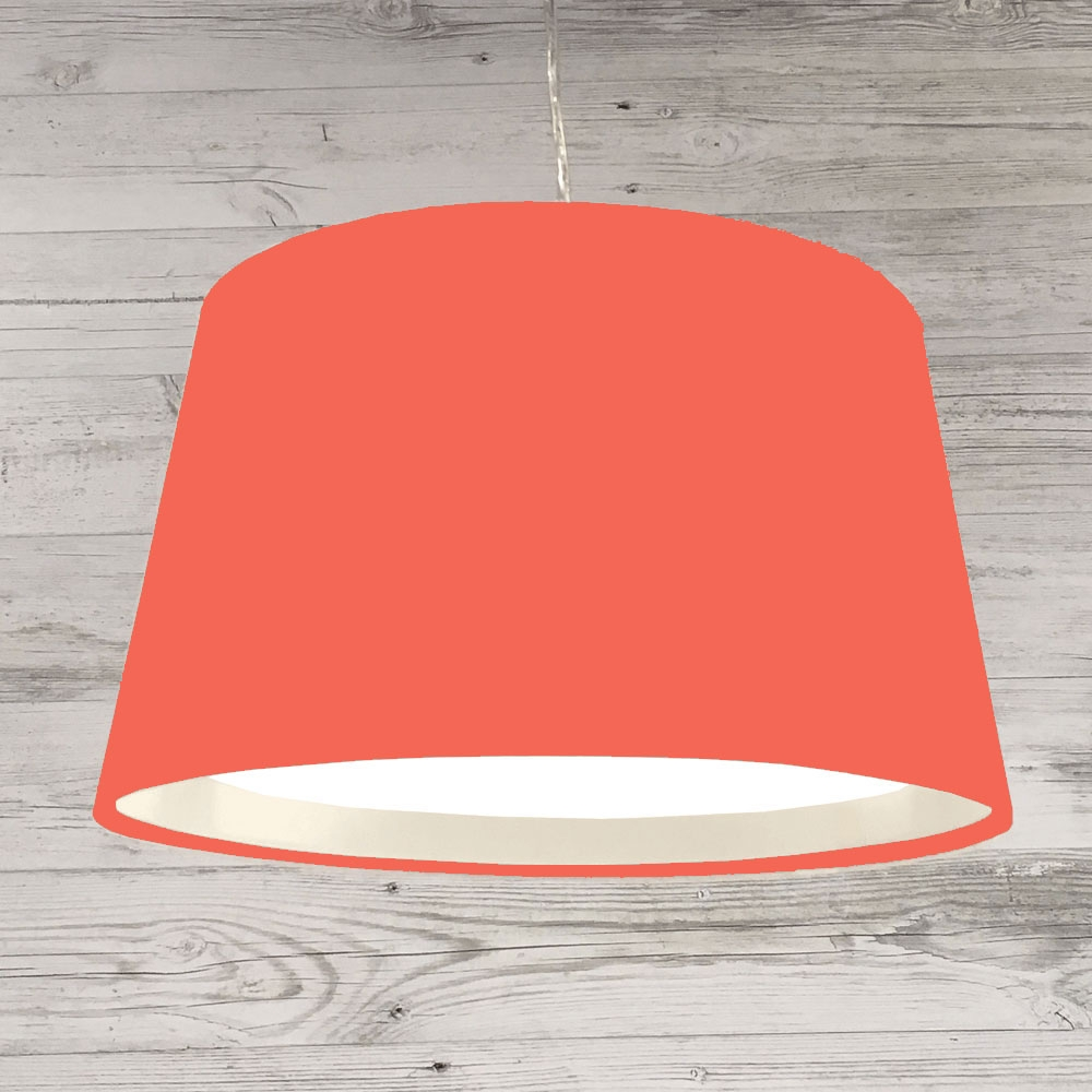 French Drum Ceiling Coral Red