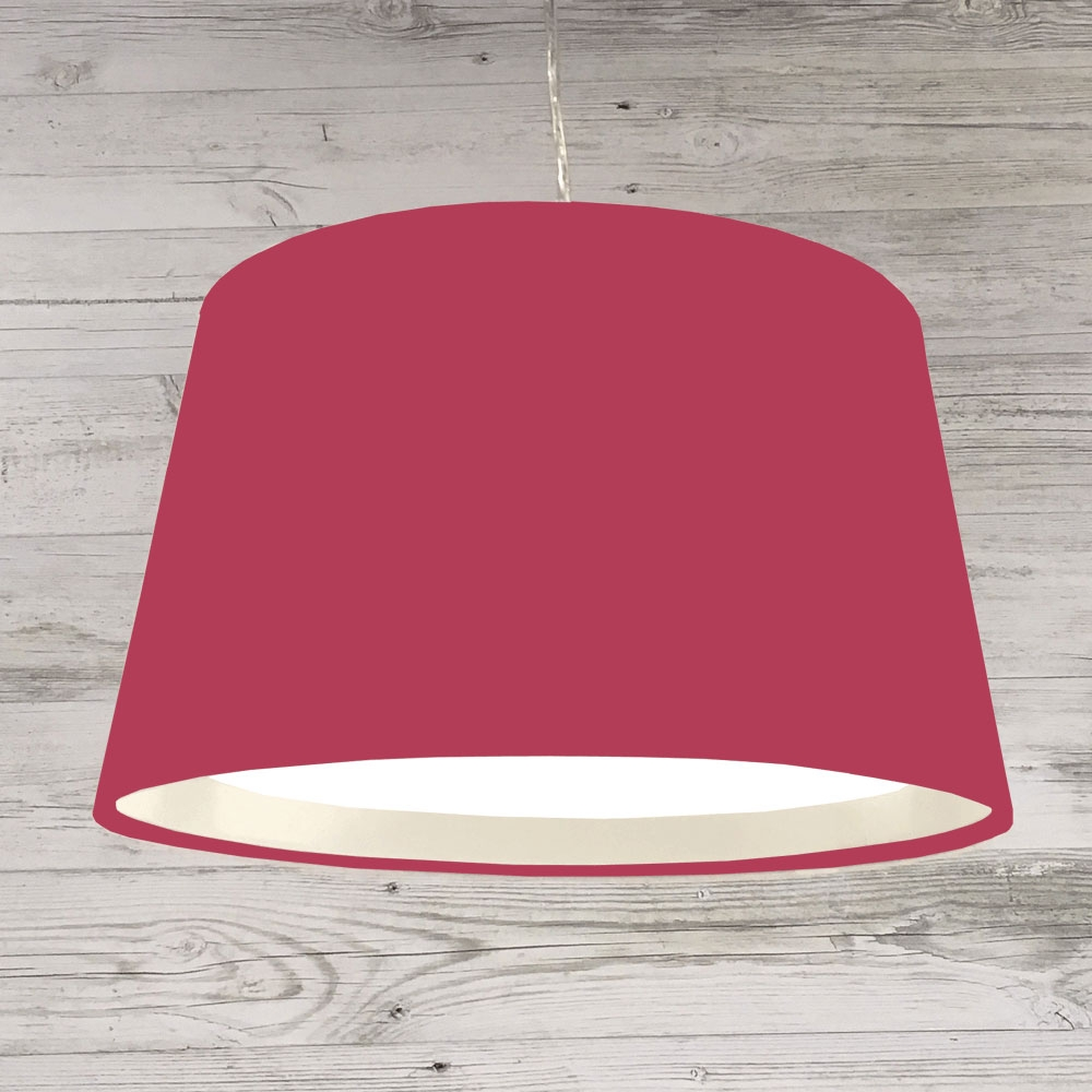 XL French Drum Pendant Raspberry