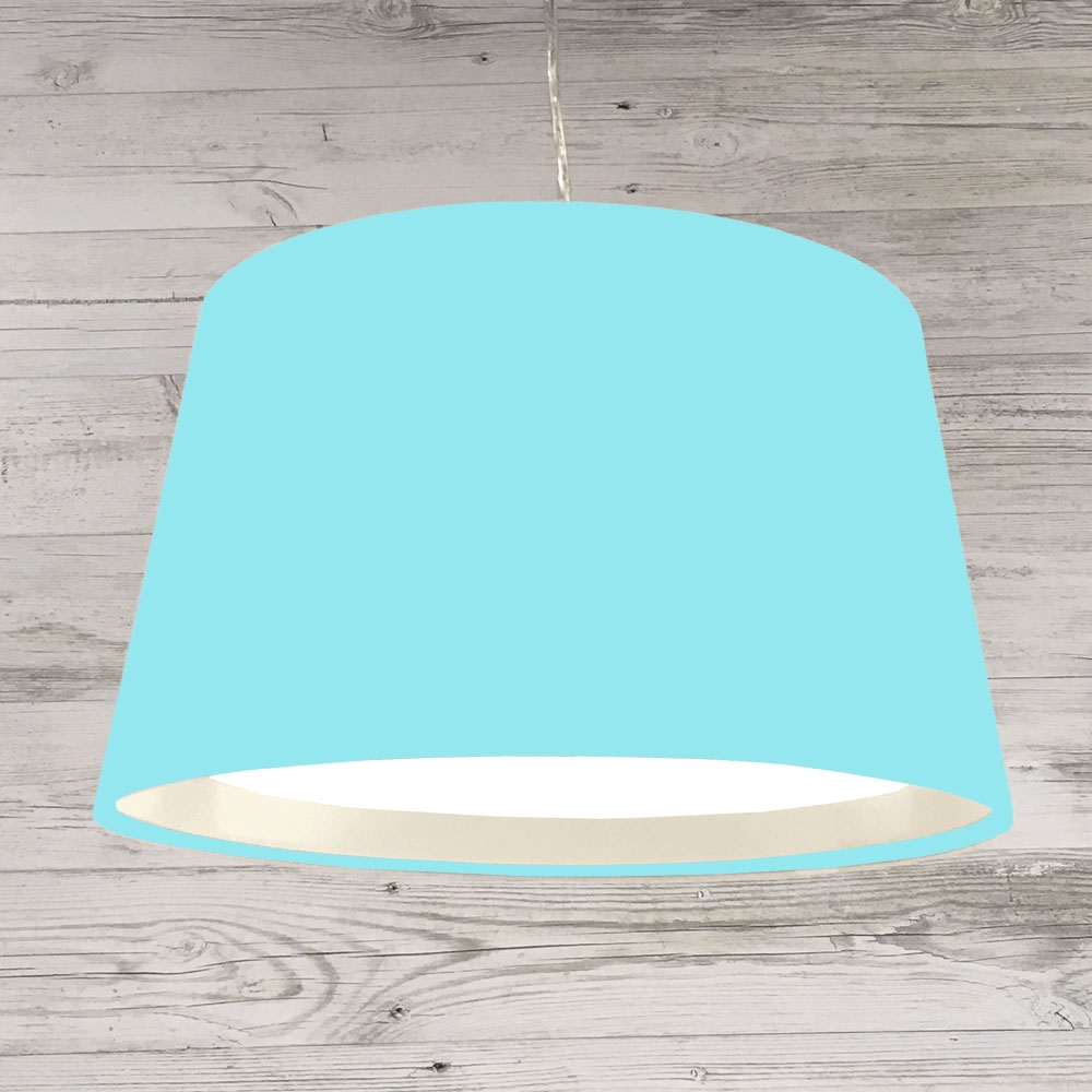 XL French Drum Pendant Aqua