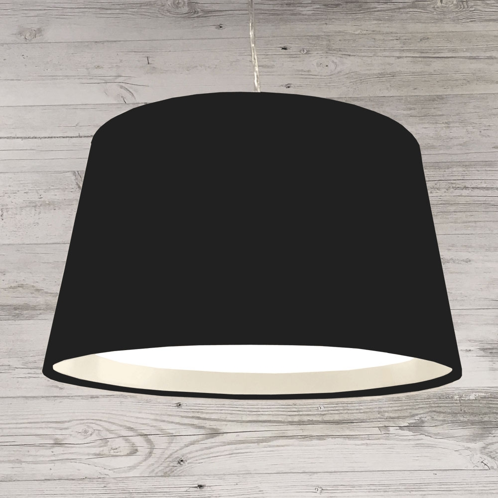 XL French Drum Pendant Black