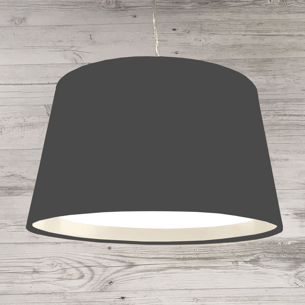 XL French Drum Pendant Charcoal