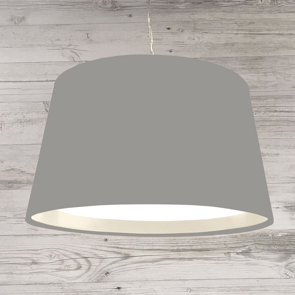 XL French Drum Pendant Grey