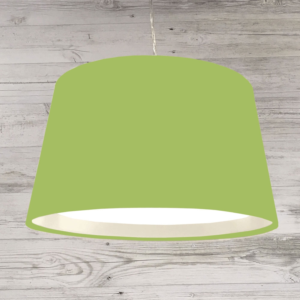 XL French Drum Pendant Lime