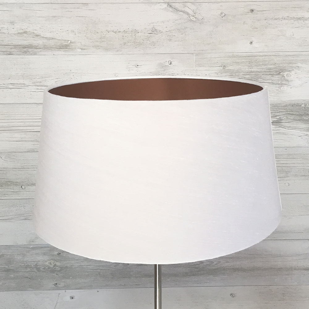 French Drum Lampshade White & Copper
