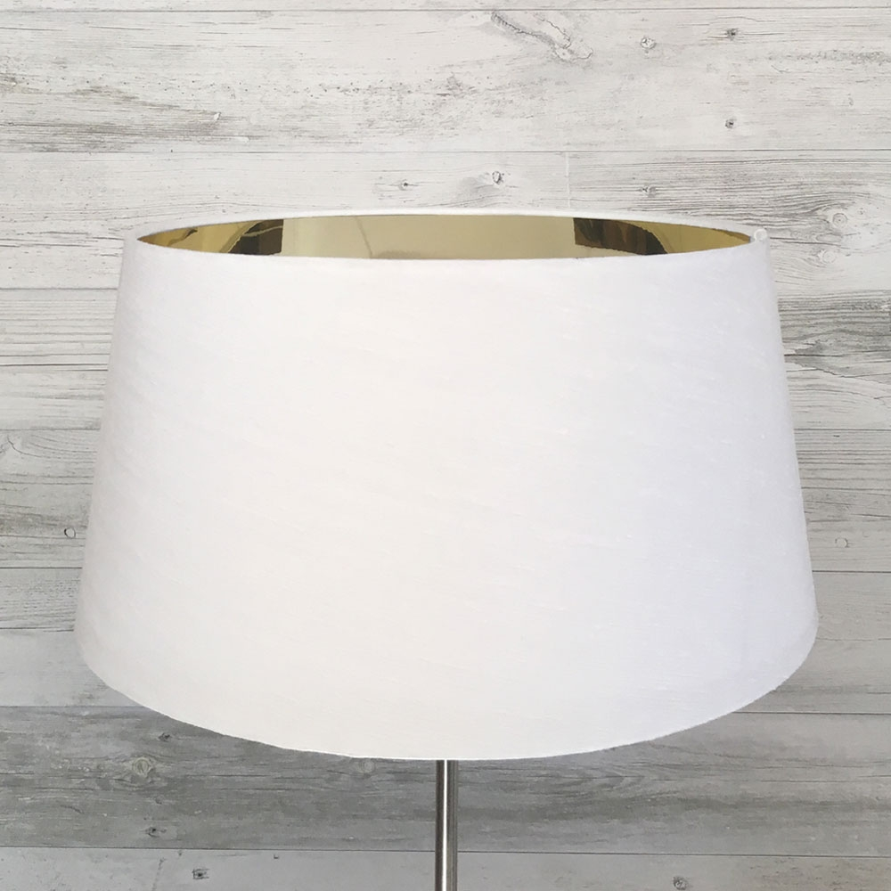 F.Drum White Mirrored Gold