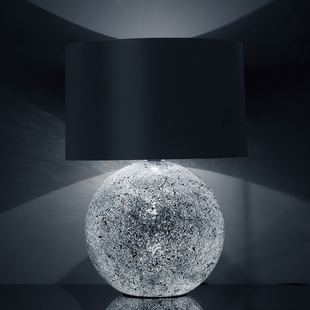Silver glitterball table lampset imperial lighting for Silver glitter floor lamp