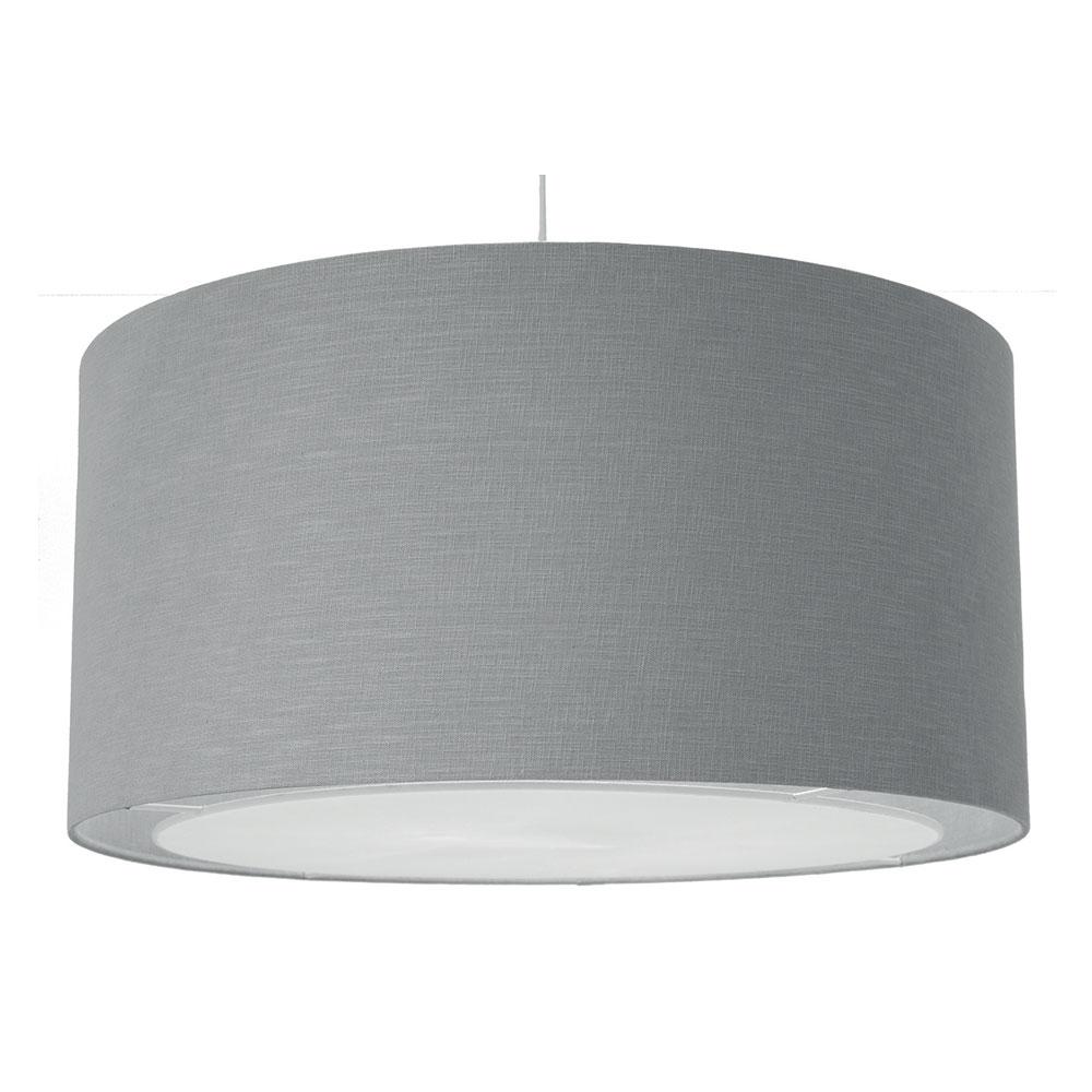 Lino Drum Ceiling Shade Grey Imperial Lighting