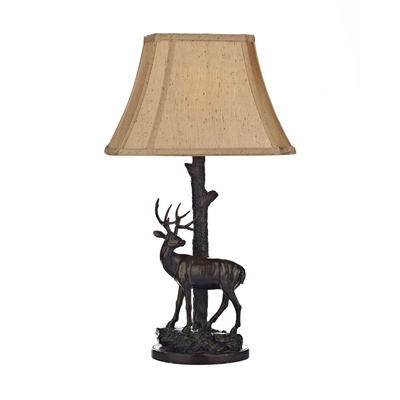 Deer Table Lamp with Shade