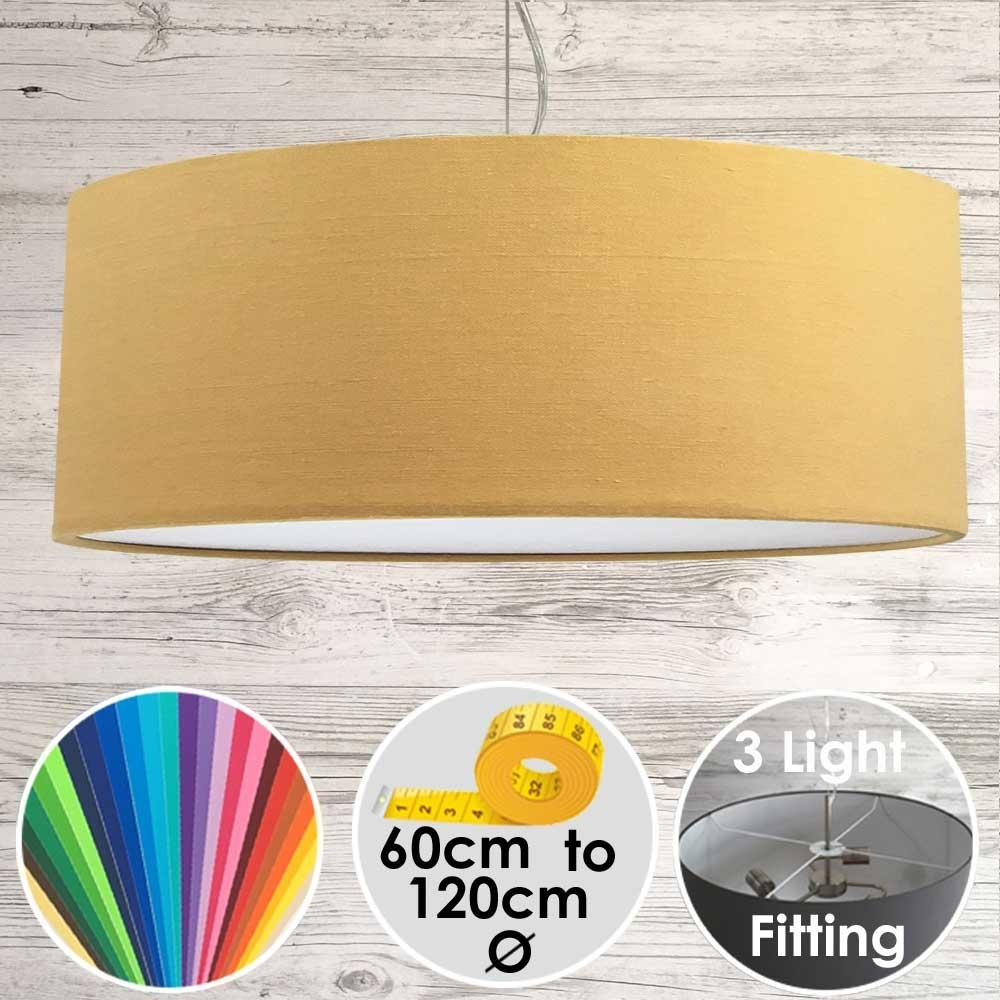 Cara XL Drum Ceiling Light Gold
