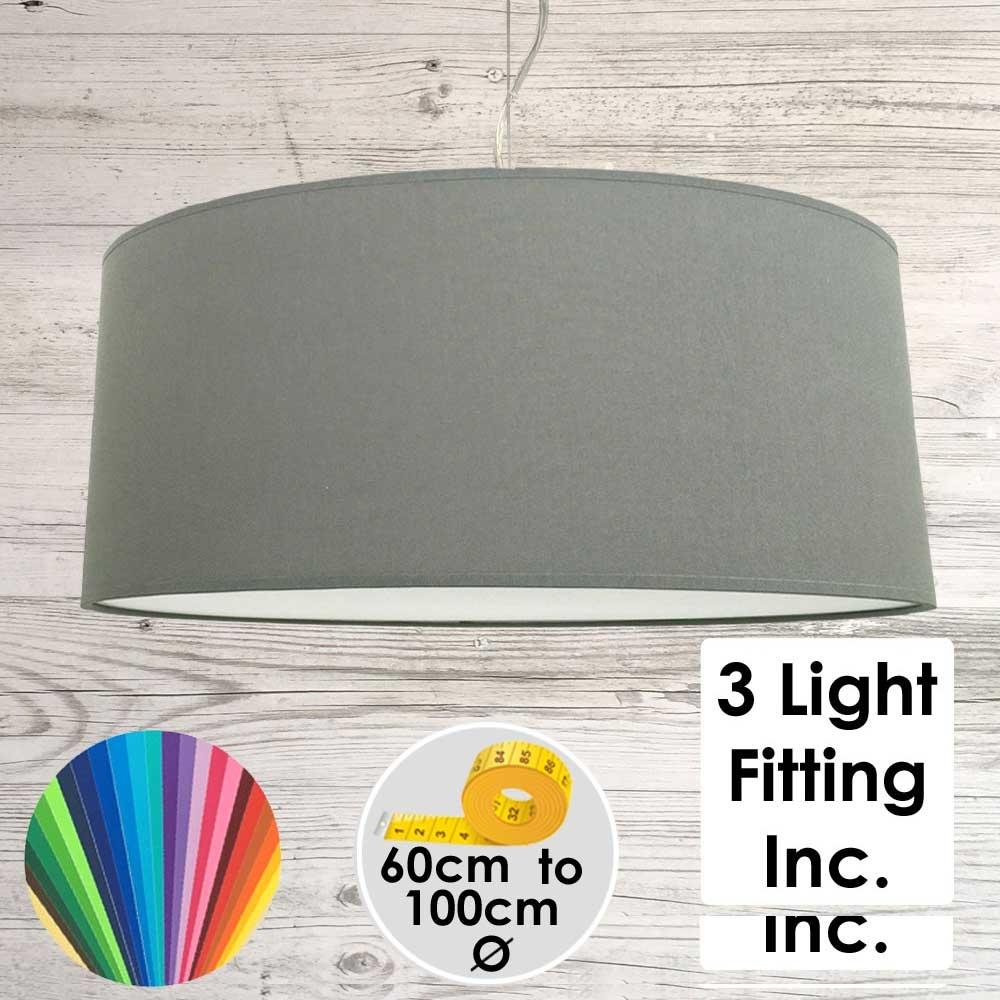 Granite Drum Ceiling Light