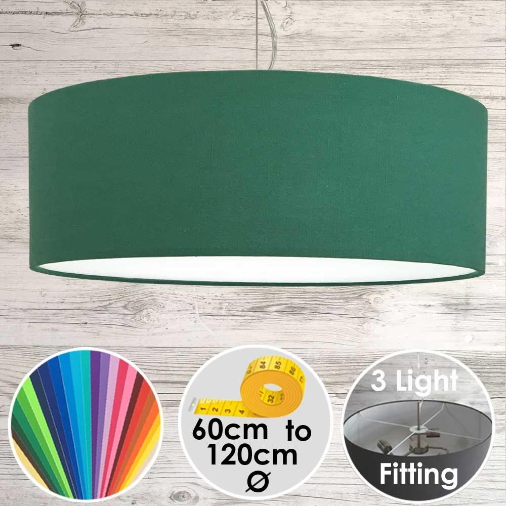 Cara XL Drum Ceiling Shade Green