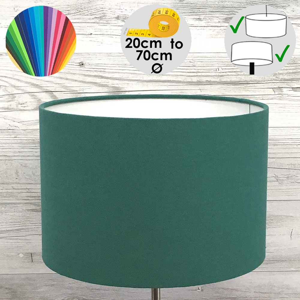 Aura Green Drum Table Lamp Shade