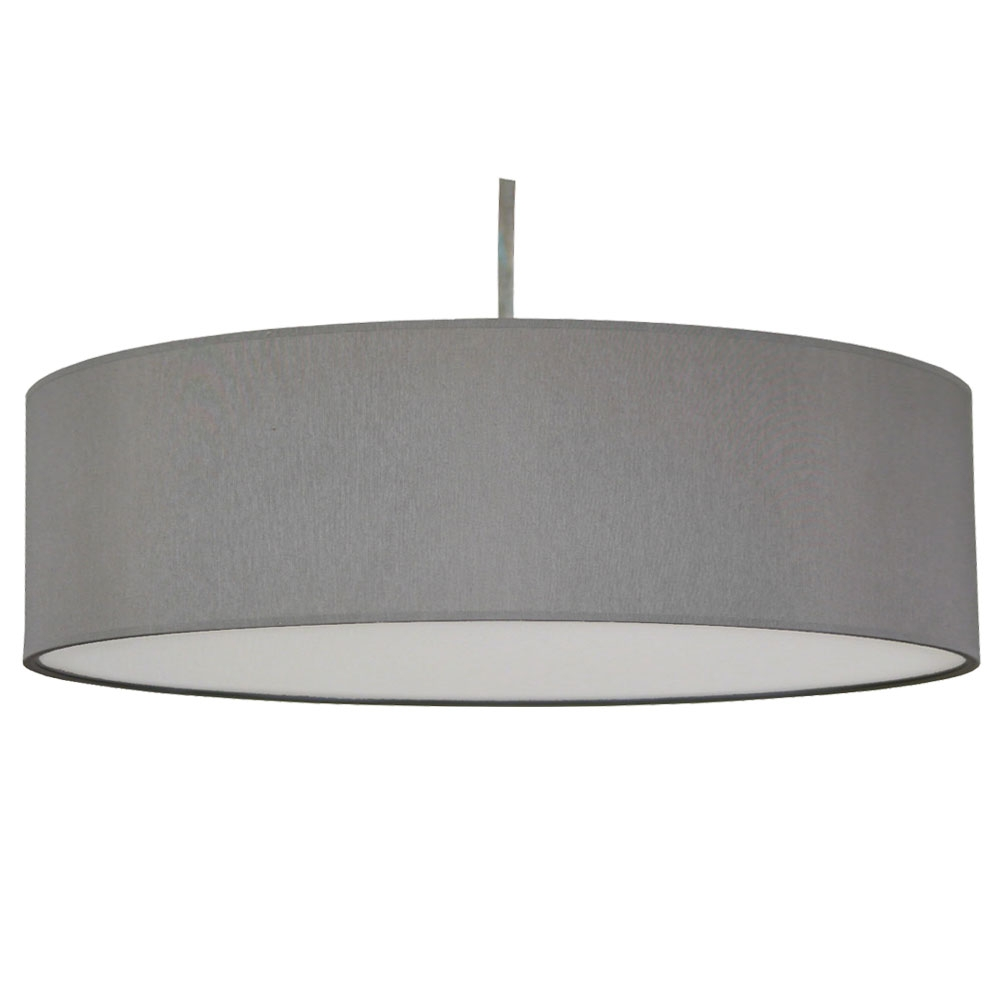 Thin Drum Pendant Shade In Grey Cotton Imperial Lighting