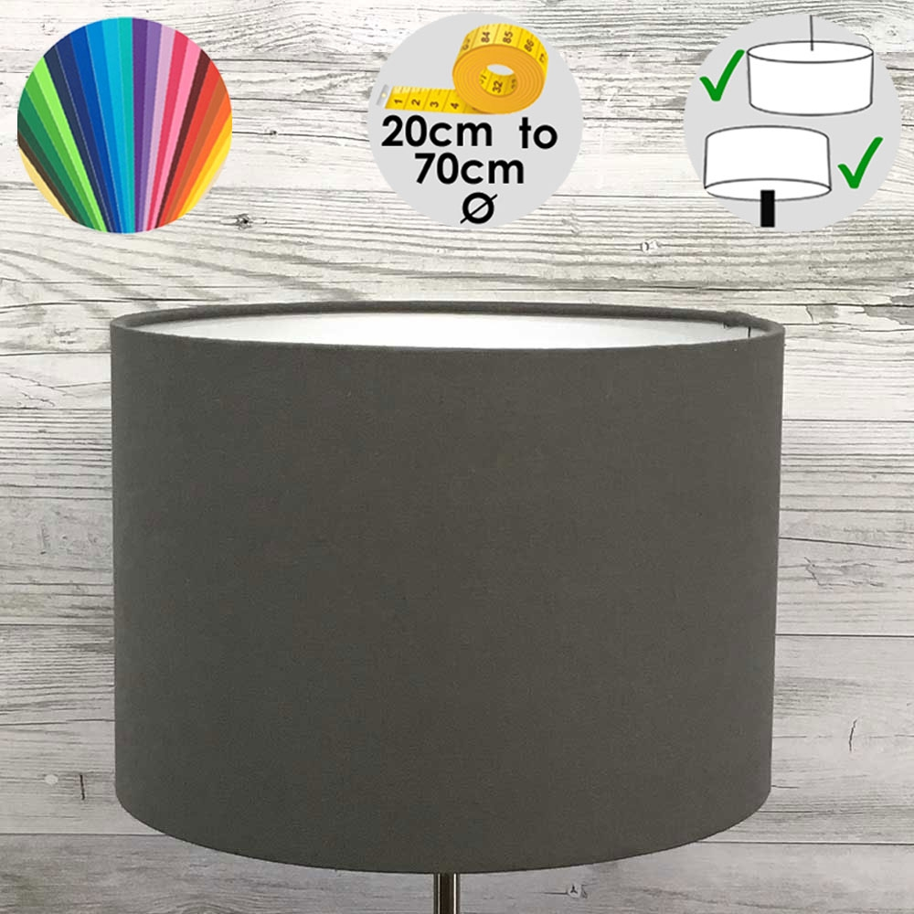 Aura Grey Drum Table lamp Shade