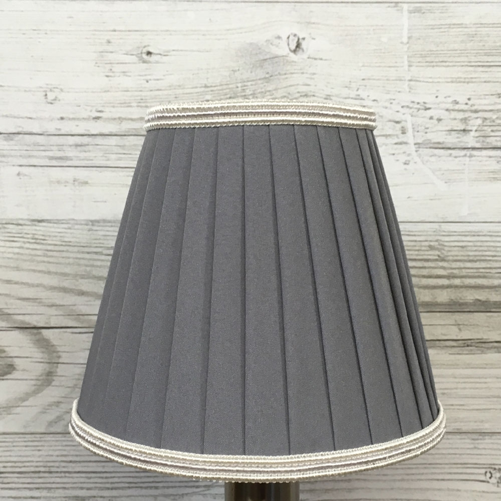 Pleated Grey Clip on Shade