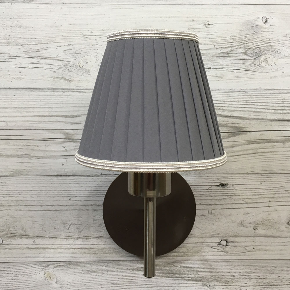 Pleated Grey Clip On Shade Imperial Lighting