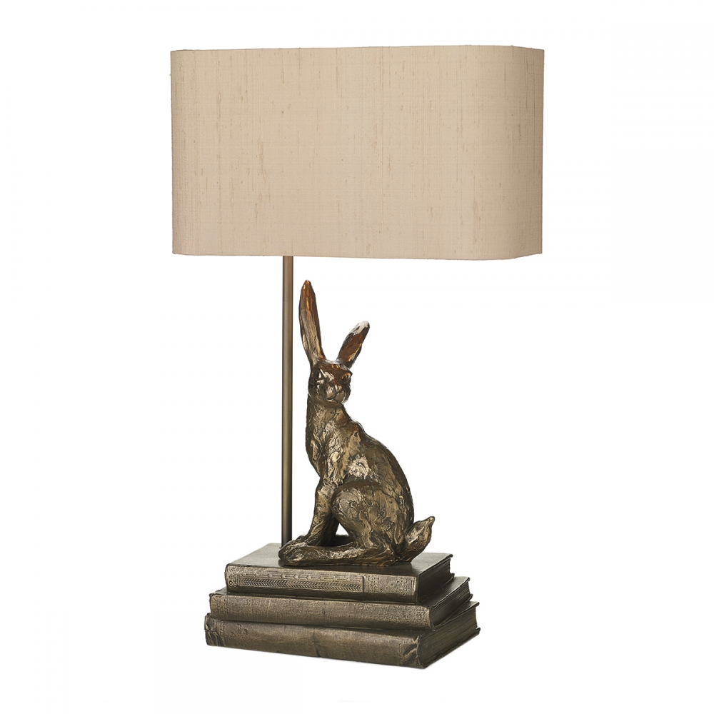 Hopper Table Lamp In Bronze