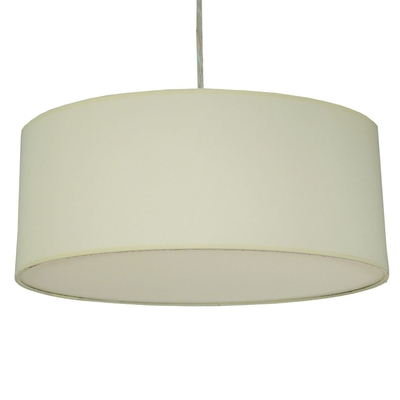 home modern lamp shades xl drum shade and suspension in ivory cotton. Black Bedroom Furniture Sets. Home Design Ideas