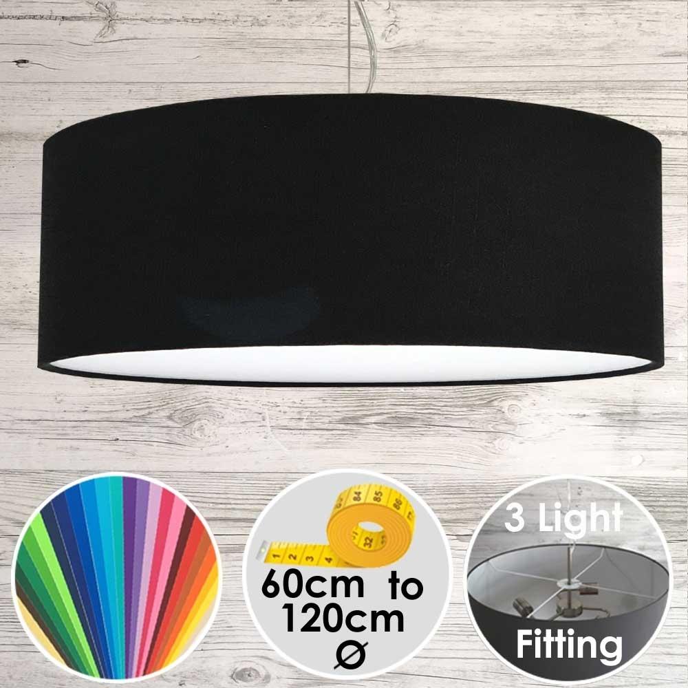 CARA LARGE BLACK DRUM LAMPSHADE