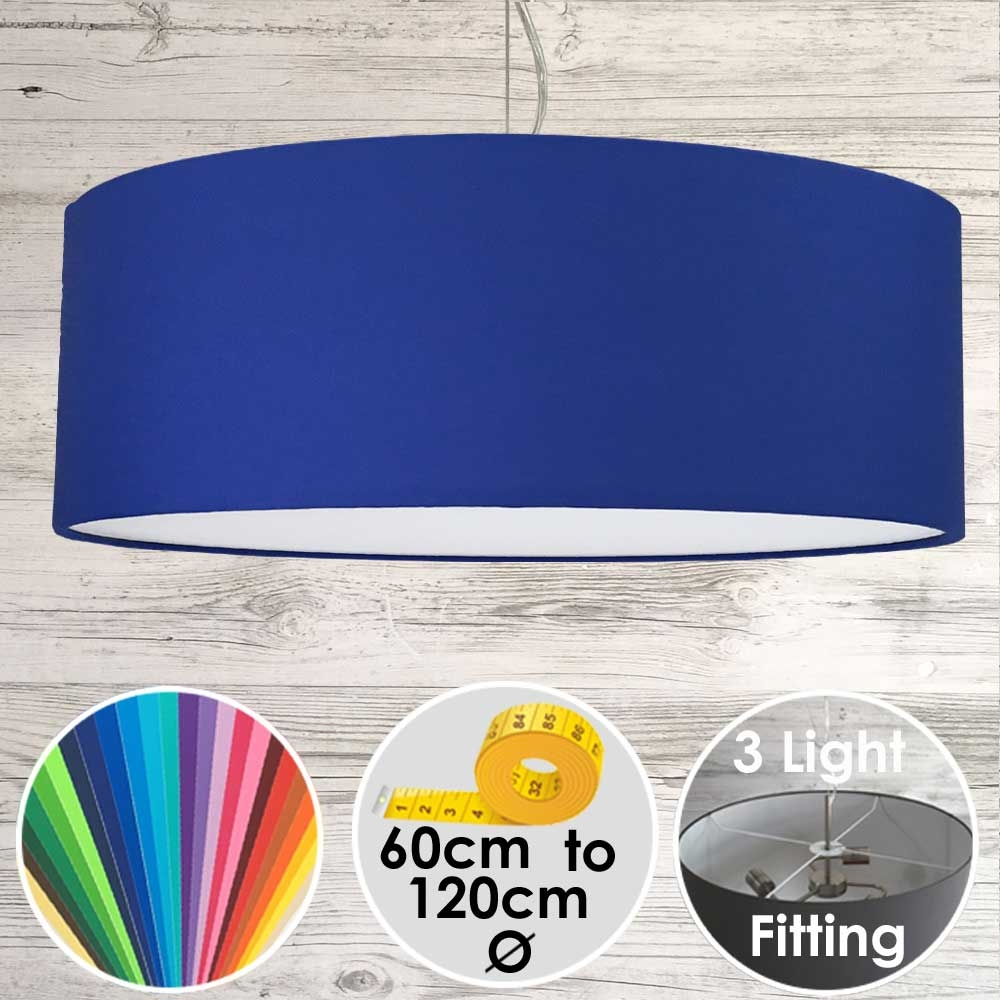 Large Drum Lampshade Cobalt