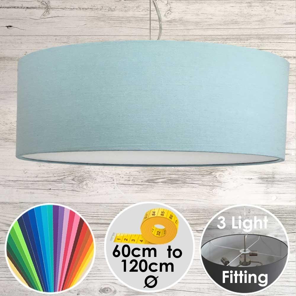 Cara Large Light Blue Drum Lampshade