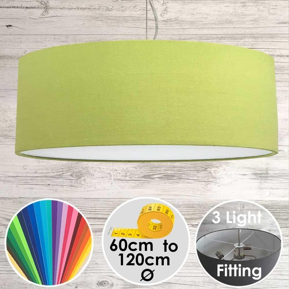 Cara Large Lime Green Drum Lampshade
