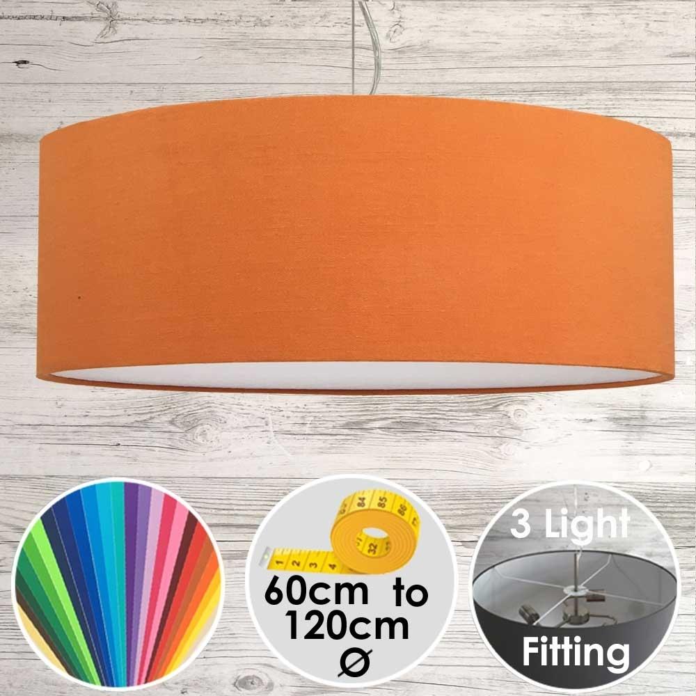 Cara Large Orange Drum Lampshade