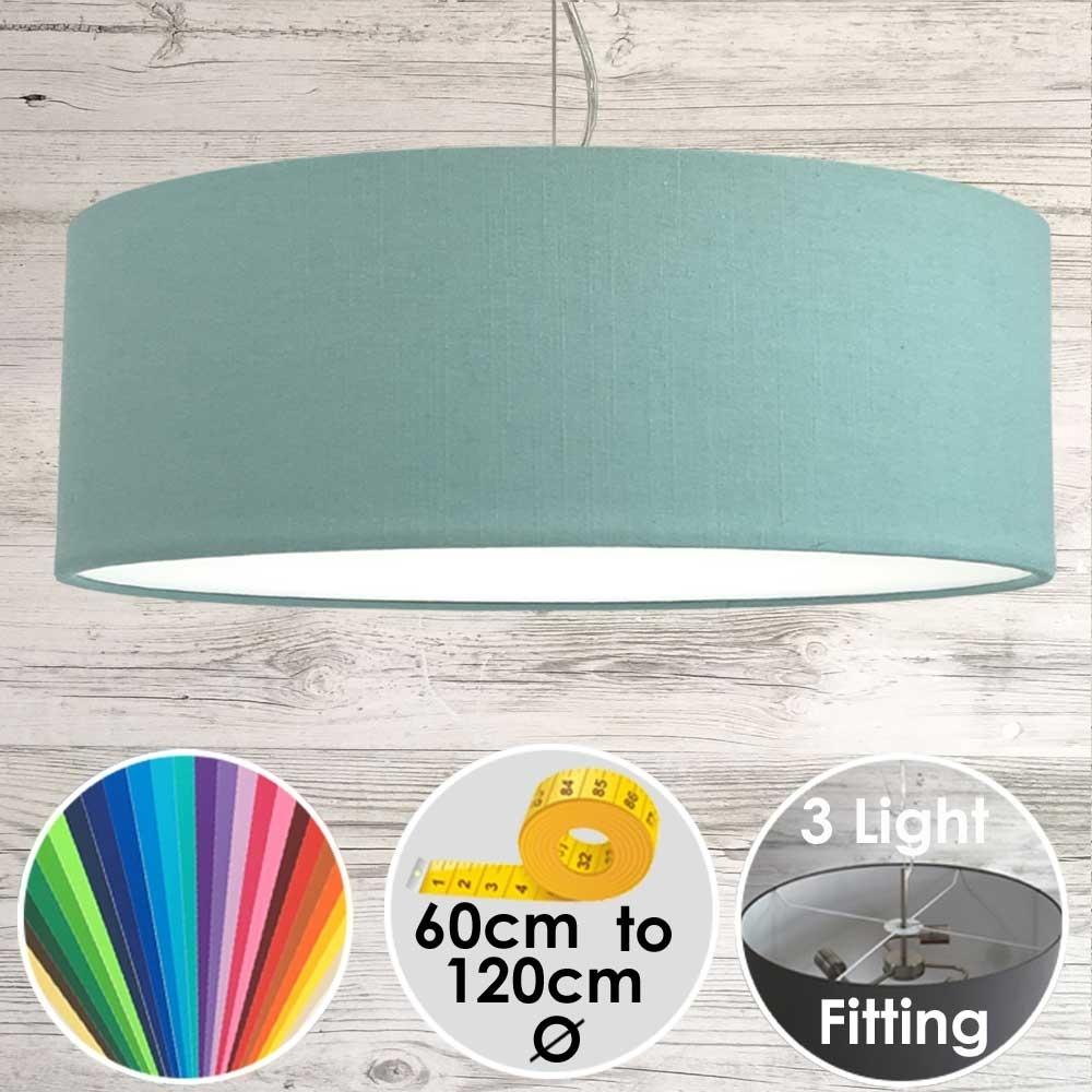 Cara Large Turquoise Drum Lamp Shade