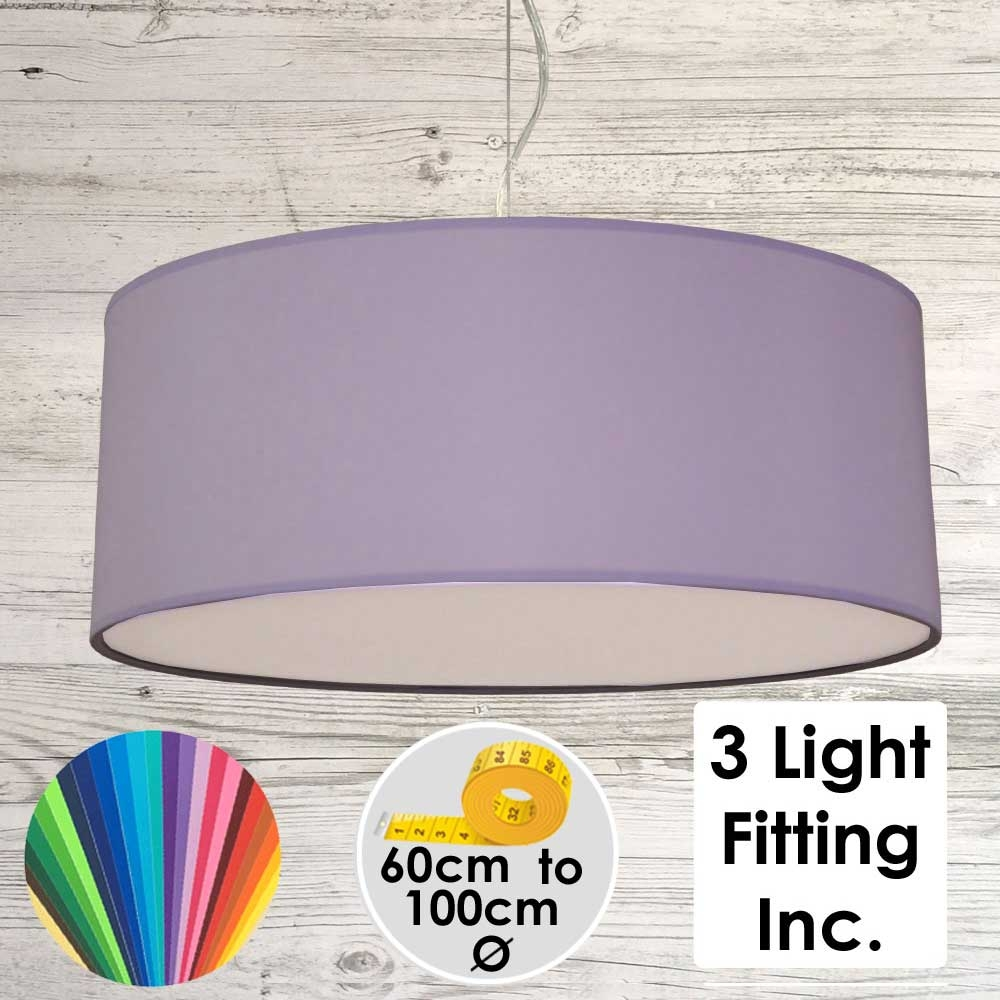 Lilac Drum Ceiling Light