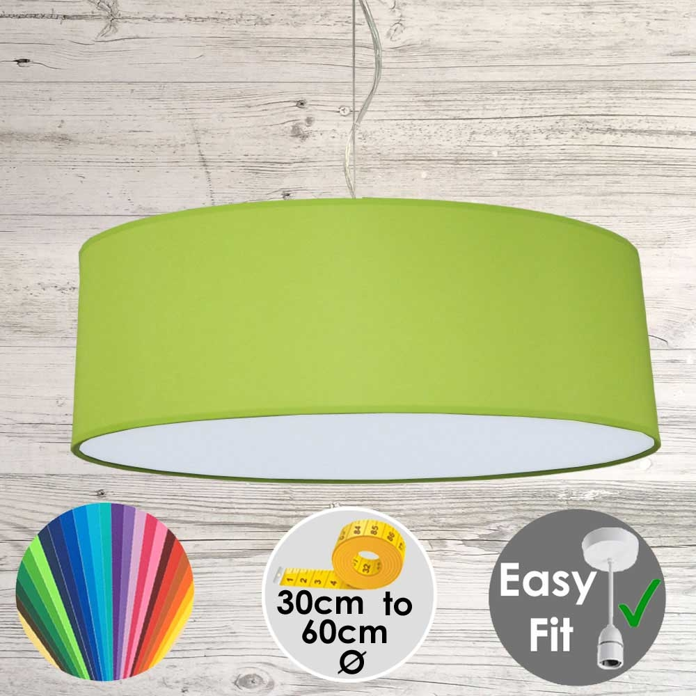 Lime Green Drum Light Shade
