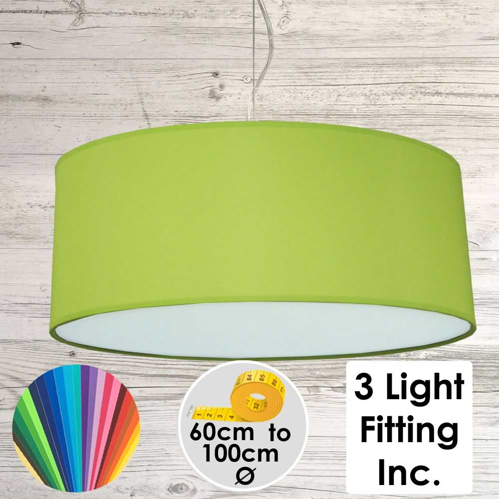 Lime Green Drum Ceiling Light
