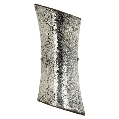 Hand Painted Chrome Effect Wall Light