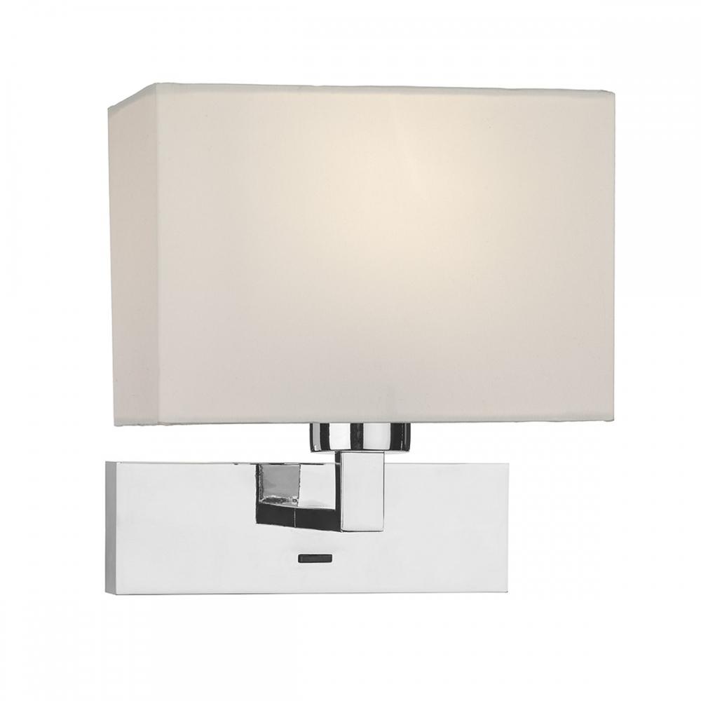 Polished chrome wall light and shade