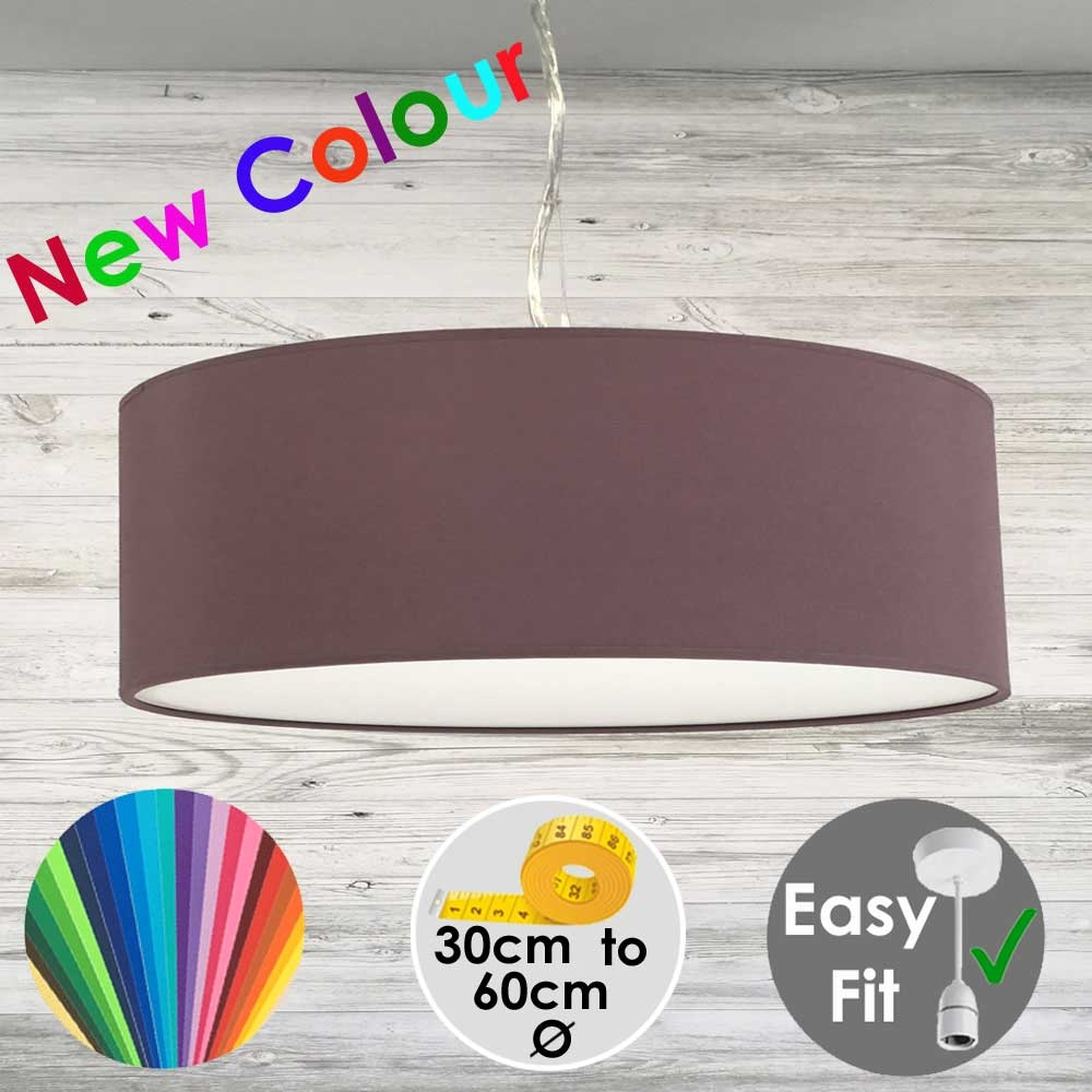 Mauve Drum Light Shade