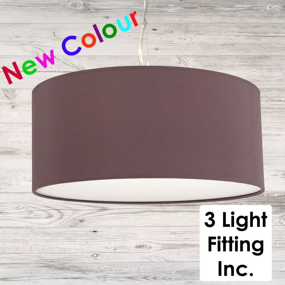 Extra Large Ceiling Lamp Shade Mauve