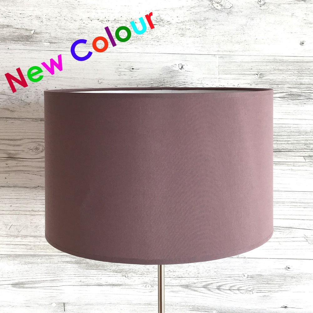 Drum Table Lampshade Mauve