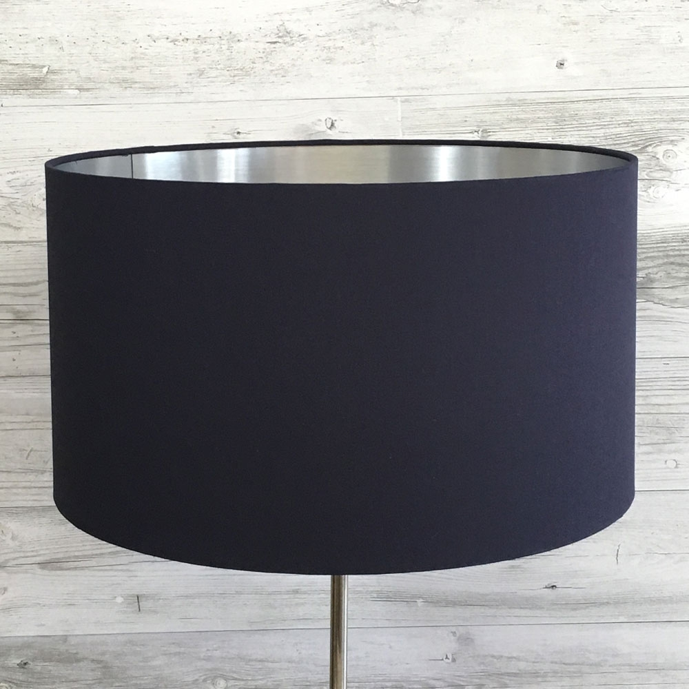 Eclipse Lampshade Navy/Silver