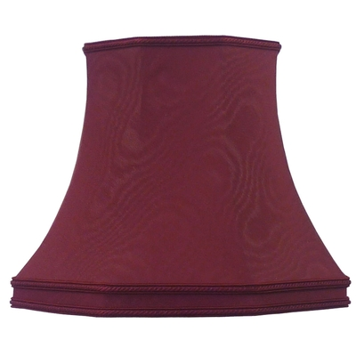Skirted Octagon Lampshade Burgundy Moire