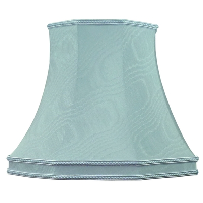 Skirted Octagon Lampshade Pale Blue Moire