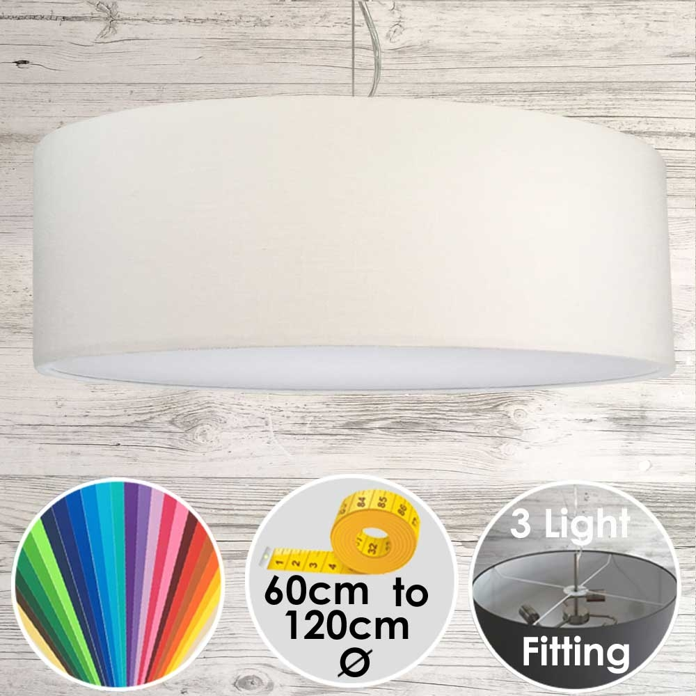 Cara XL Drum Ceiling Light Off White