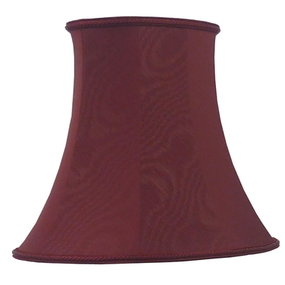 Bowed Oval Lampshade Burgundy Moire