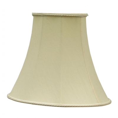 Bowed Oval Lampshade Clotted Cream Dupion - Imperial Lighting