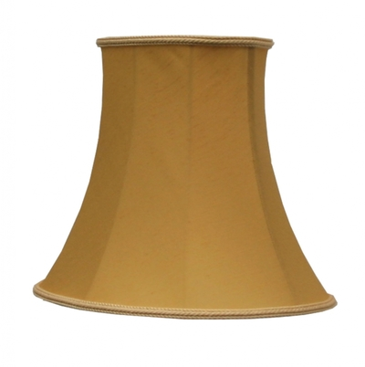 Bowed Oval Lampshade Gold Dupion
