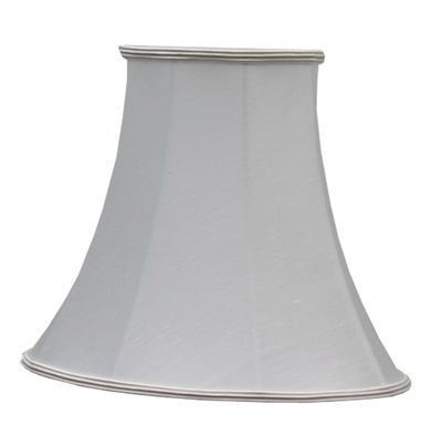 Bowed Oval Lampshade Natural Dupion