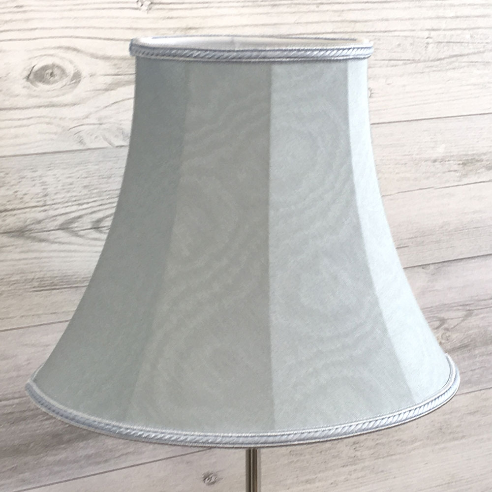 Bowed Oval Lampshade Blue