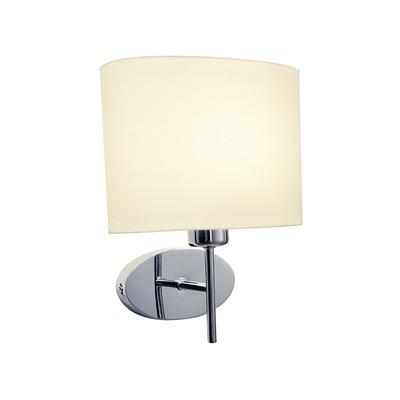 Oval Polished Chrome Wall Light with Shade